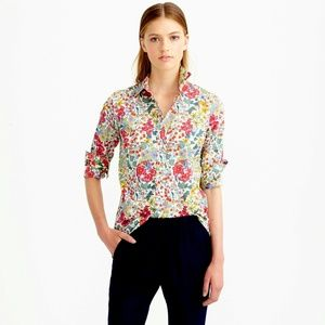 J.CREW Perfect Shirt in Liberty Edna Floral NWT